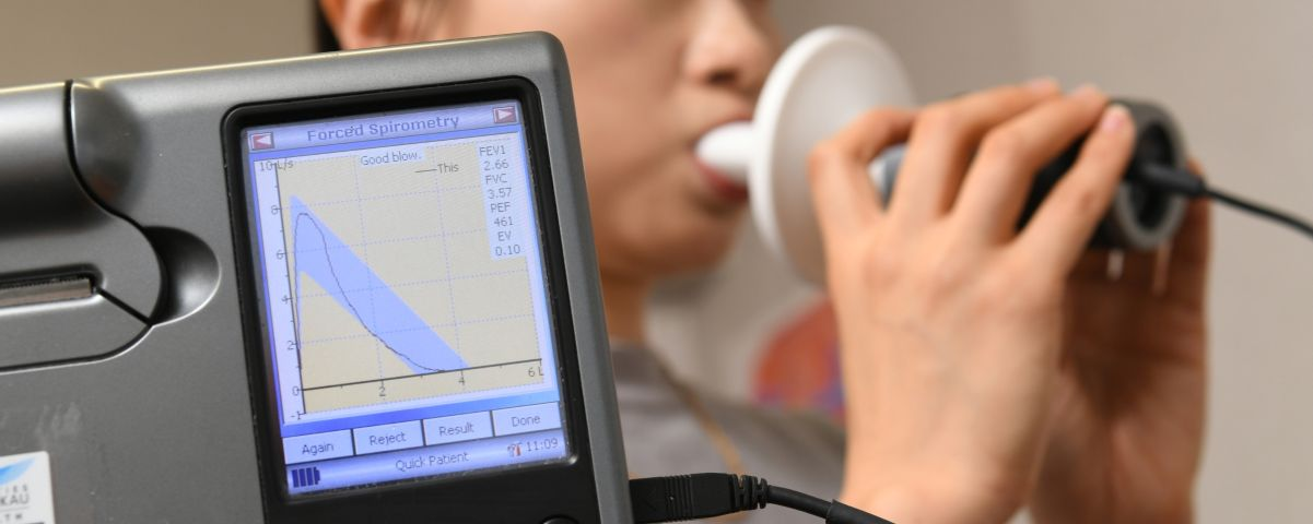 Spirometry readout